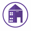 household robot house icon