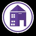 household robot house icon