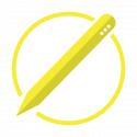 educational robot pencil icon