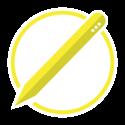 educational robot pencil icon