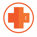 medical robot plus symbol icon