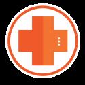 medical robot plus symbol icon