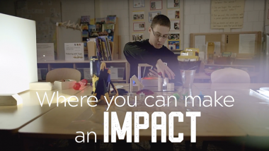 UNI teaching majors gain classroom experience and have opportunities to participate in undergraduate research.